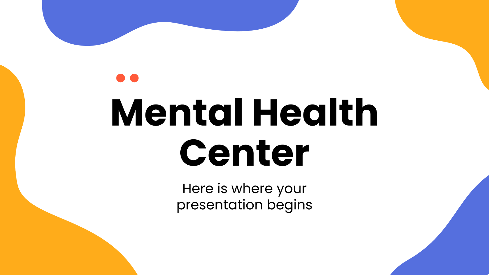 Mental Health Center presentation template