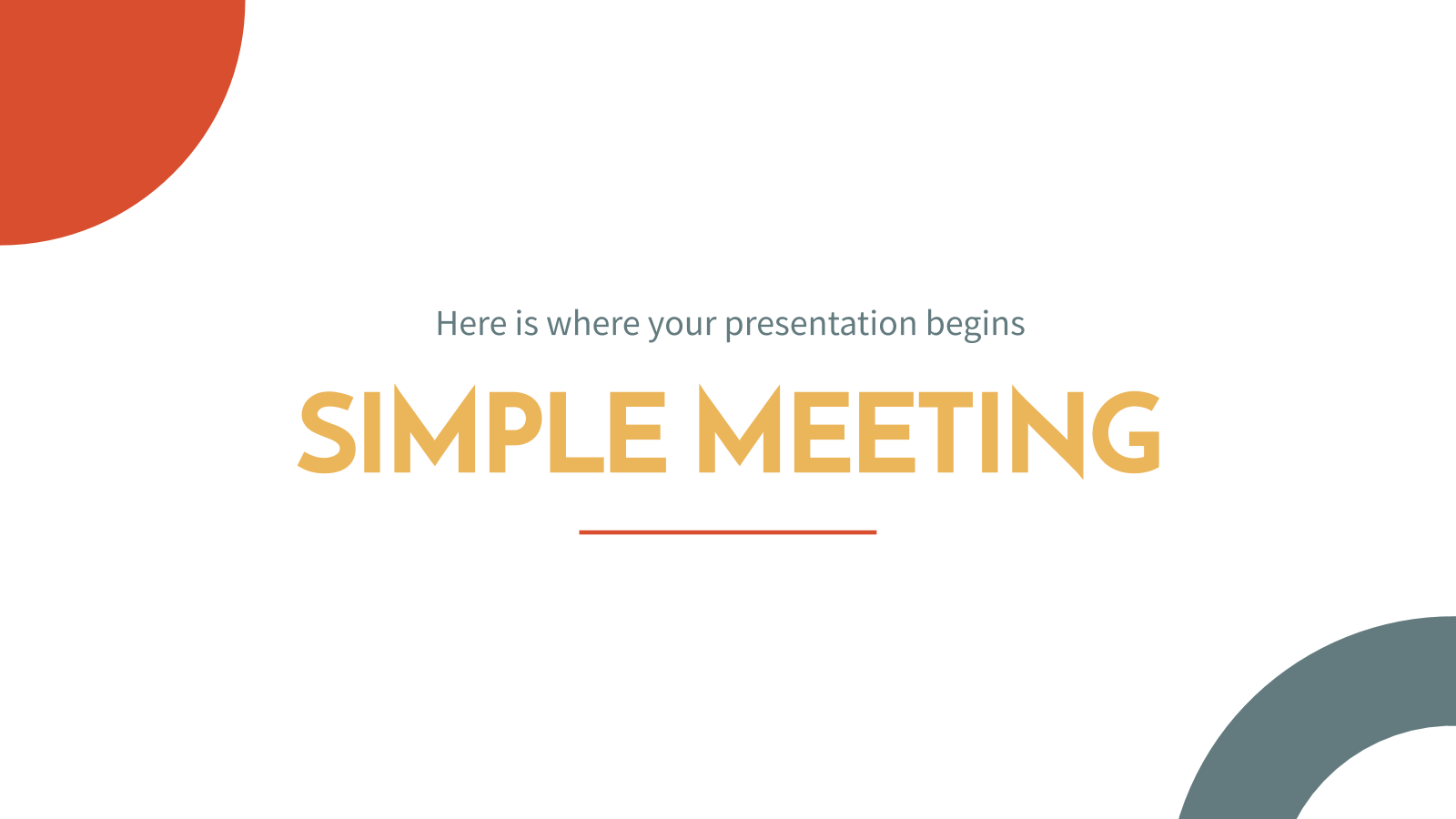 Simple Meeting presentation template