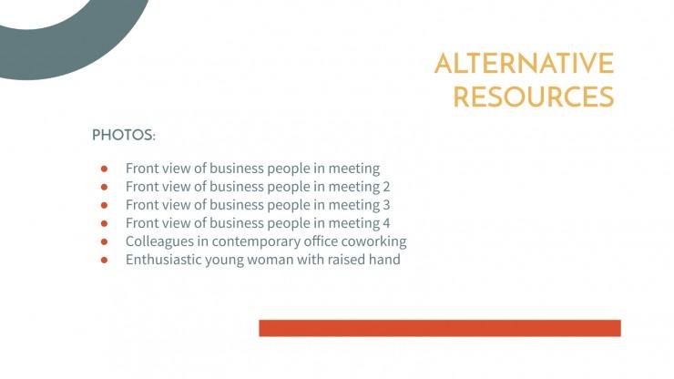 Modelo de apresentação Reunião simples