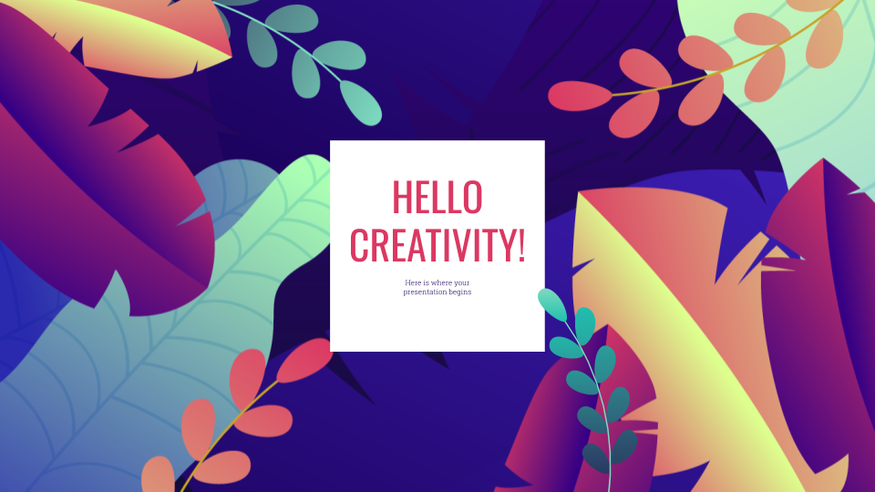 Flowery - Free Presentation Template for Google Slides and
