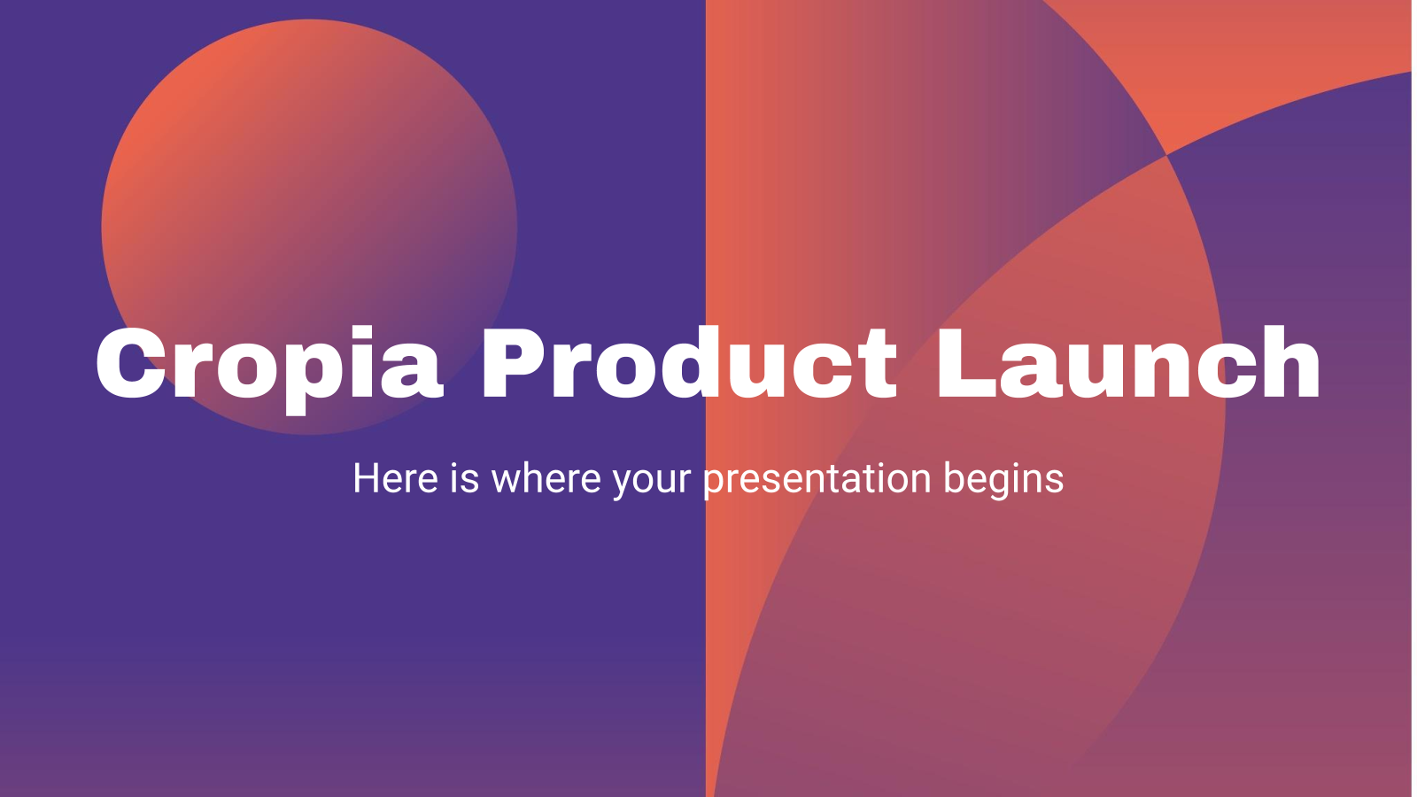 Cropia Product Launch presentation template