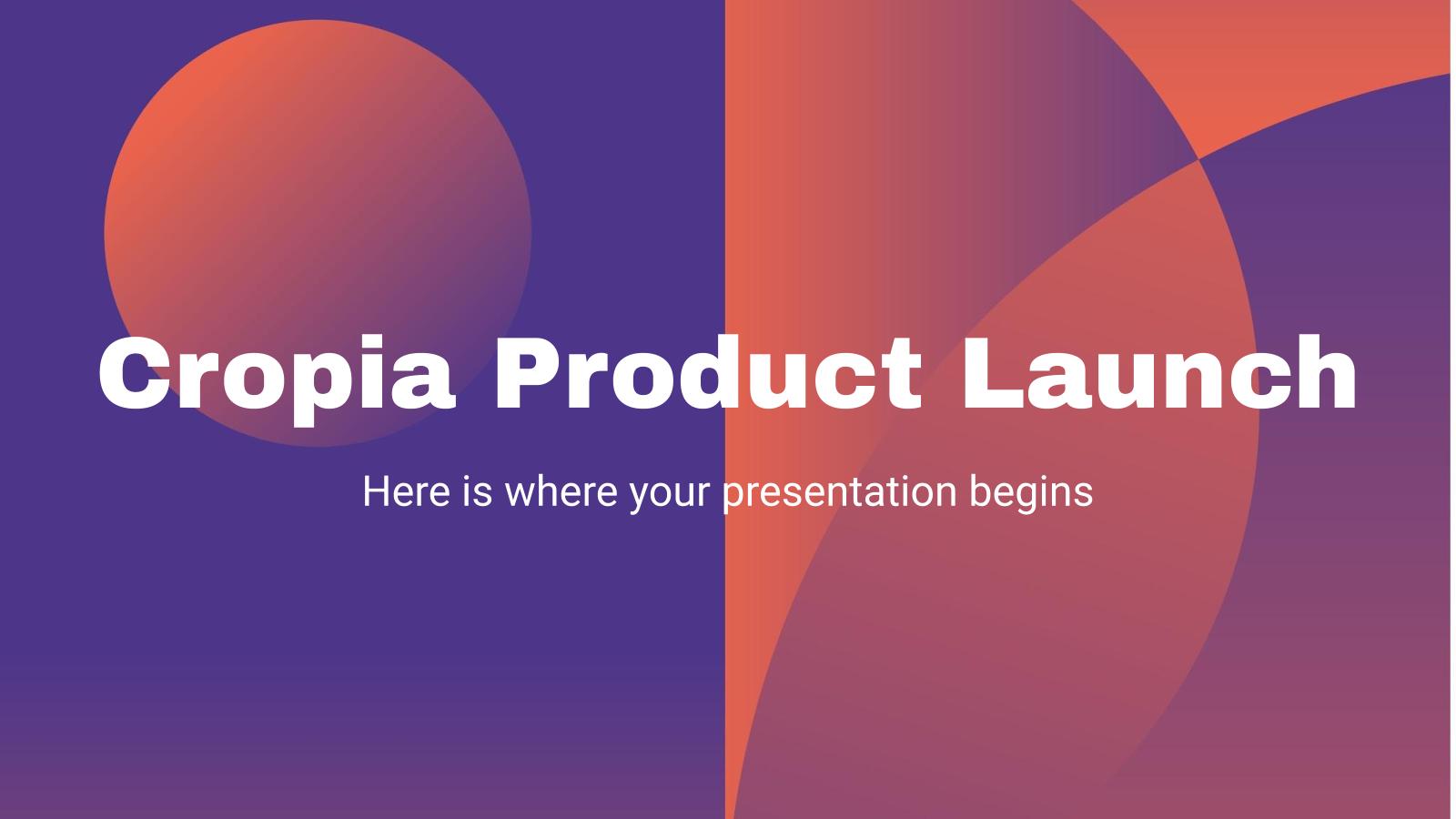 Plantilla de presentación Lanzamiento de producto Cropia