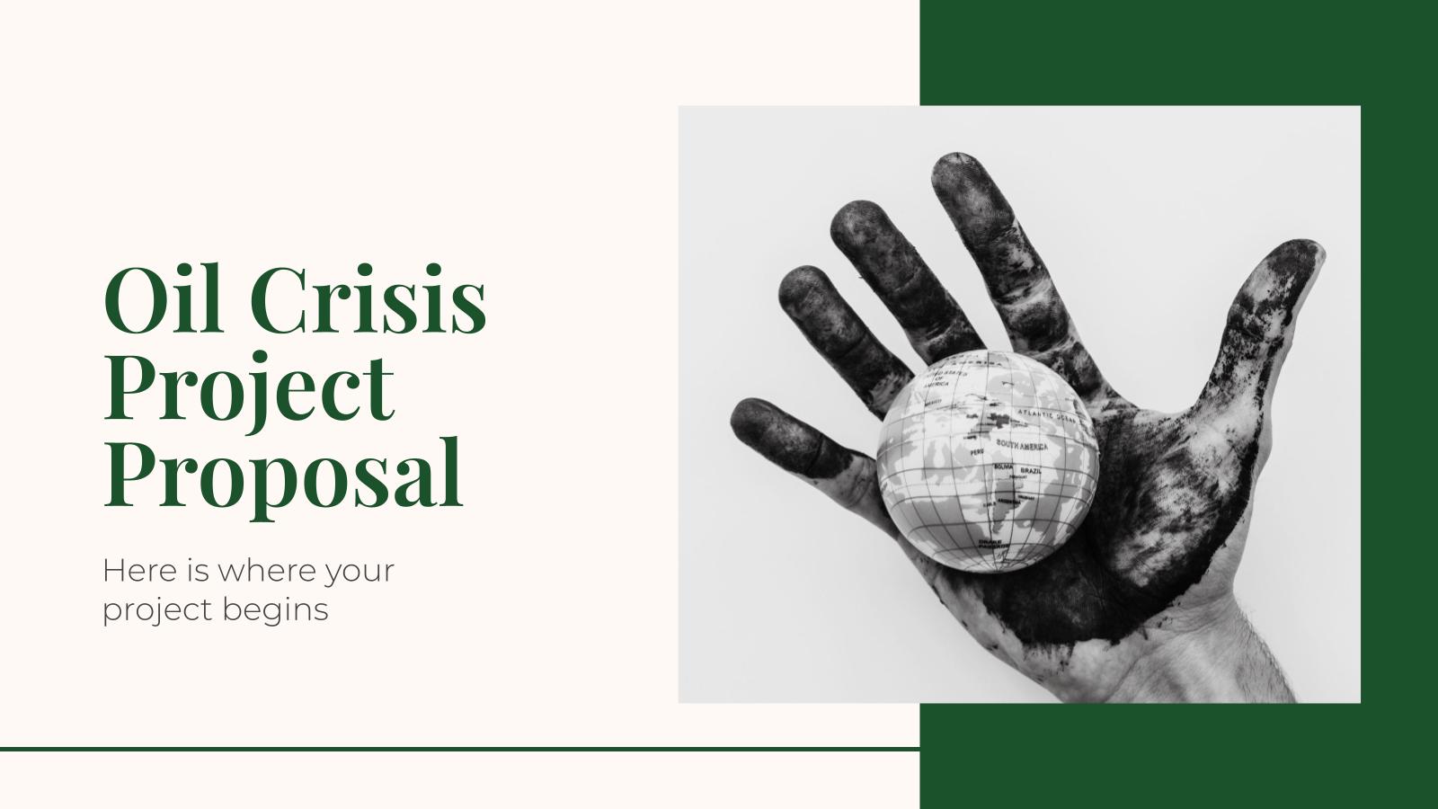 Proposition de projet sur la crise pétrolière : Modèles de présentation