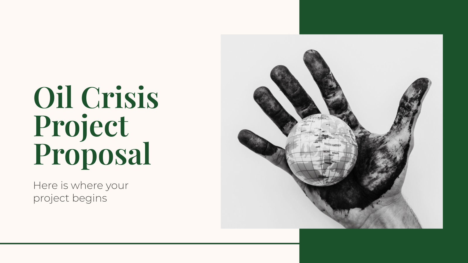 Oil Crisis Project Proposal presentation template