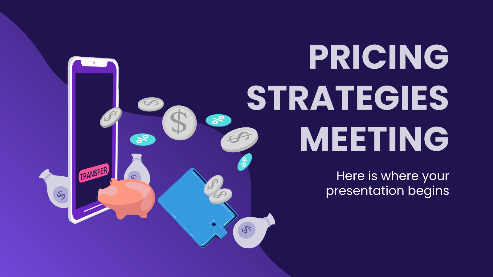 Pricing Strategies Meeting presentation template