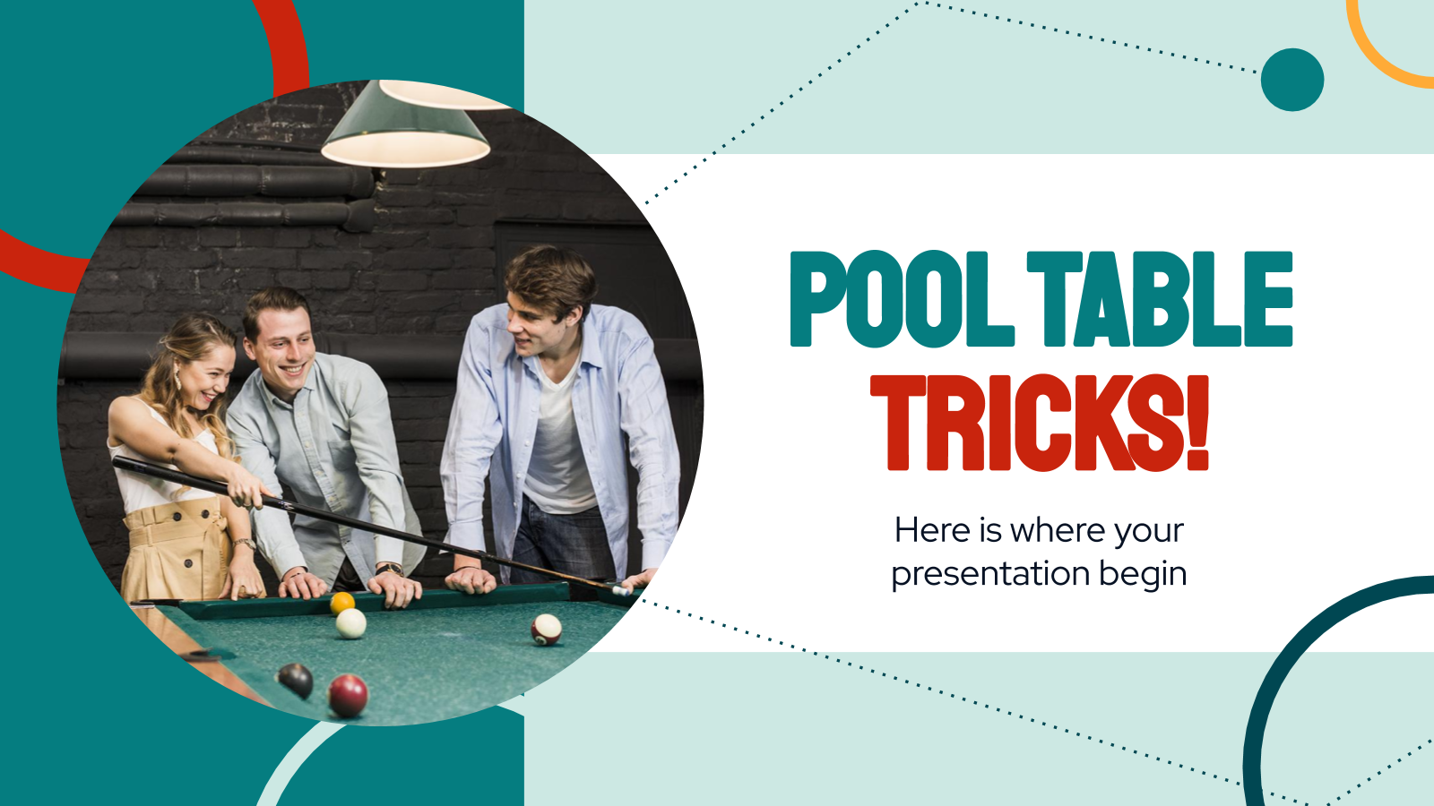 Pool Table Tricks! presentation template