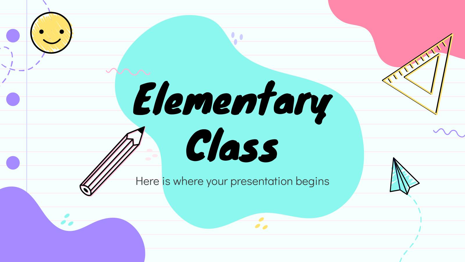 Cours de l'enseignement primaire : Modèles de présentation