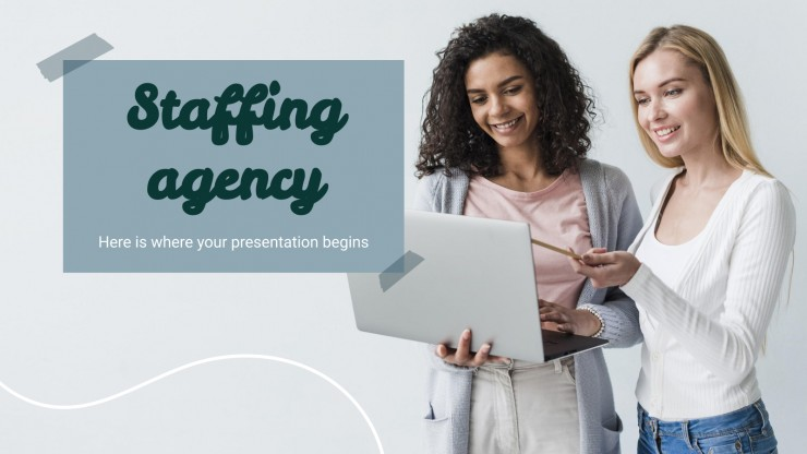 Staffing Agency presentation template