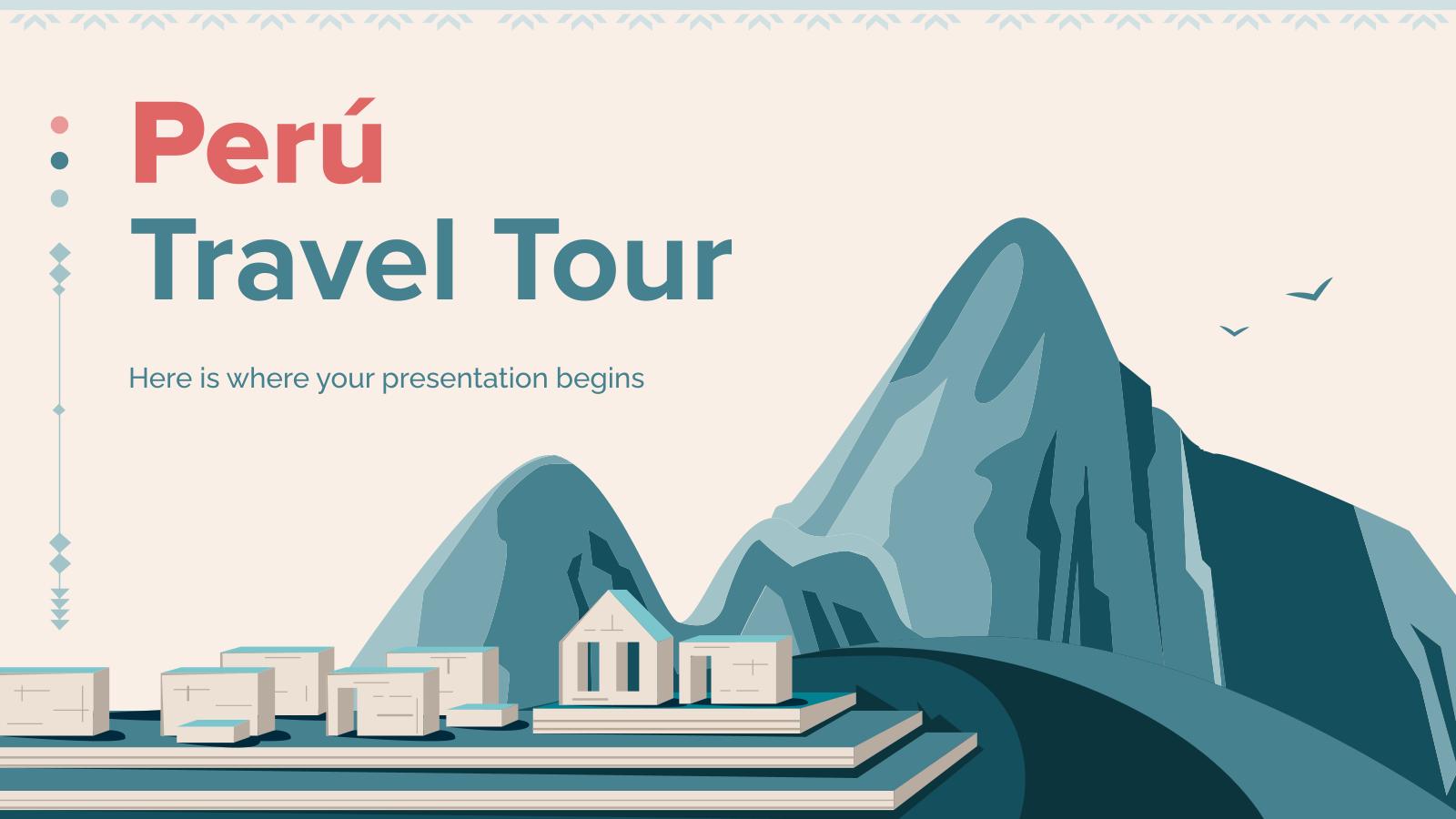 Plantilla de presentación Viaje a Perú