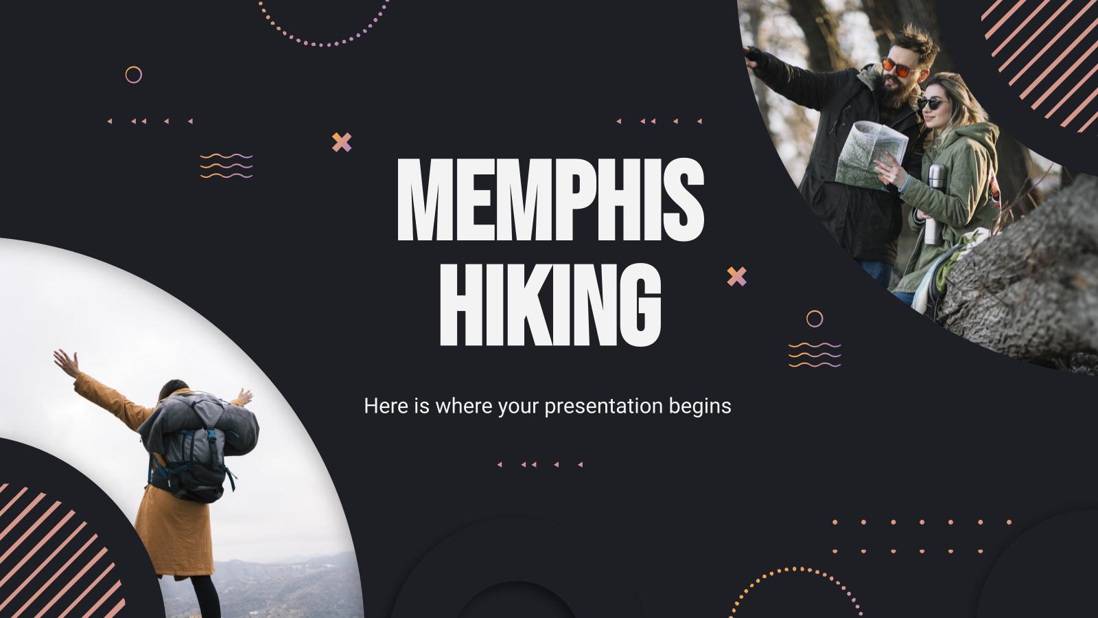 Modelo de apresentação Caminhadas estilo Memphis