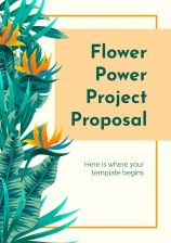 Flower Power Project Proposal presentation template