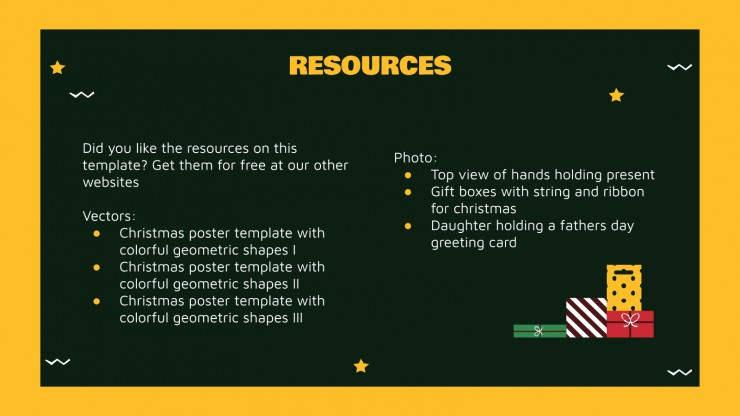 Boxing Day presentation template