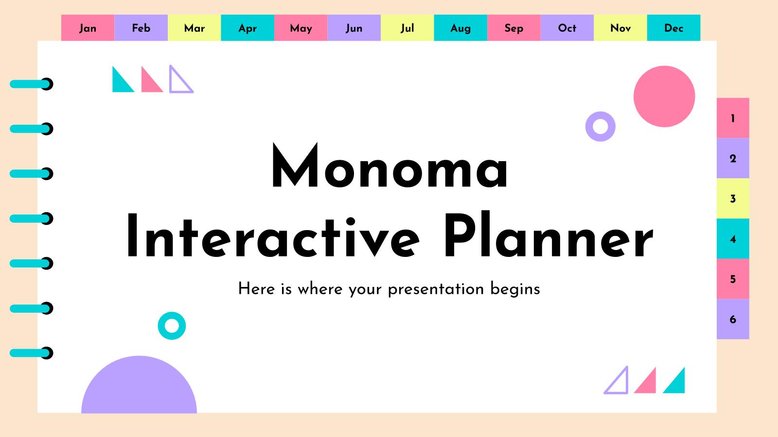 Planificateur interactif Monoma : Modèles de présentation
