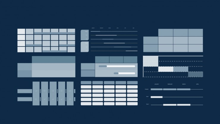 Modelo de apresentação Agenda interativa Monoma