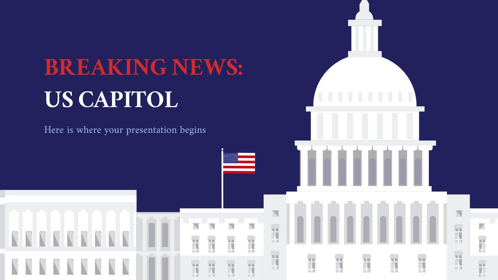 Plantilla de presentación Últimas noticias: Capitolio de los EE. UU.