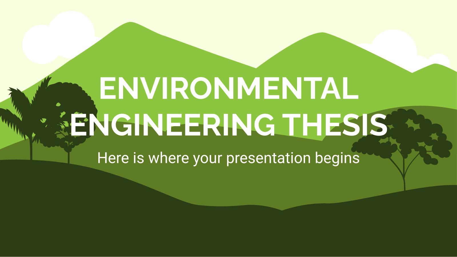 Environmental Engineering Thesis presentation template