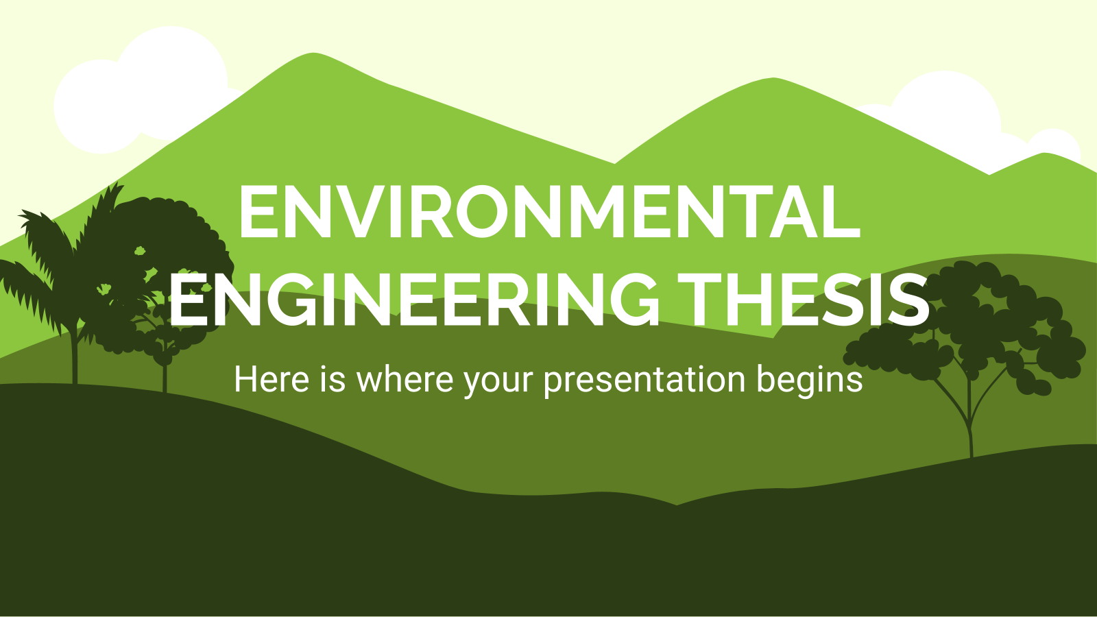 Environmental Engineering Thesis presentation template