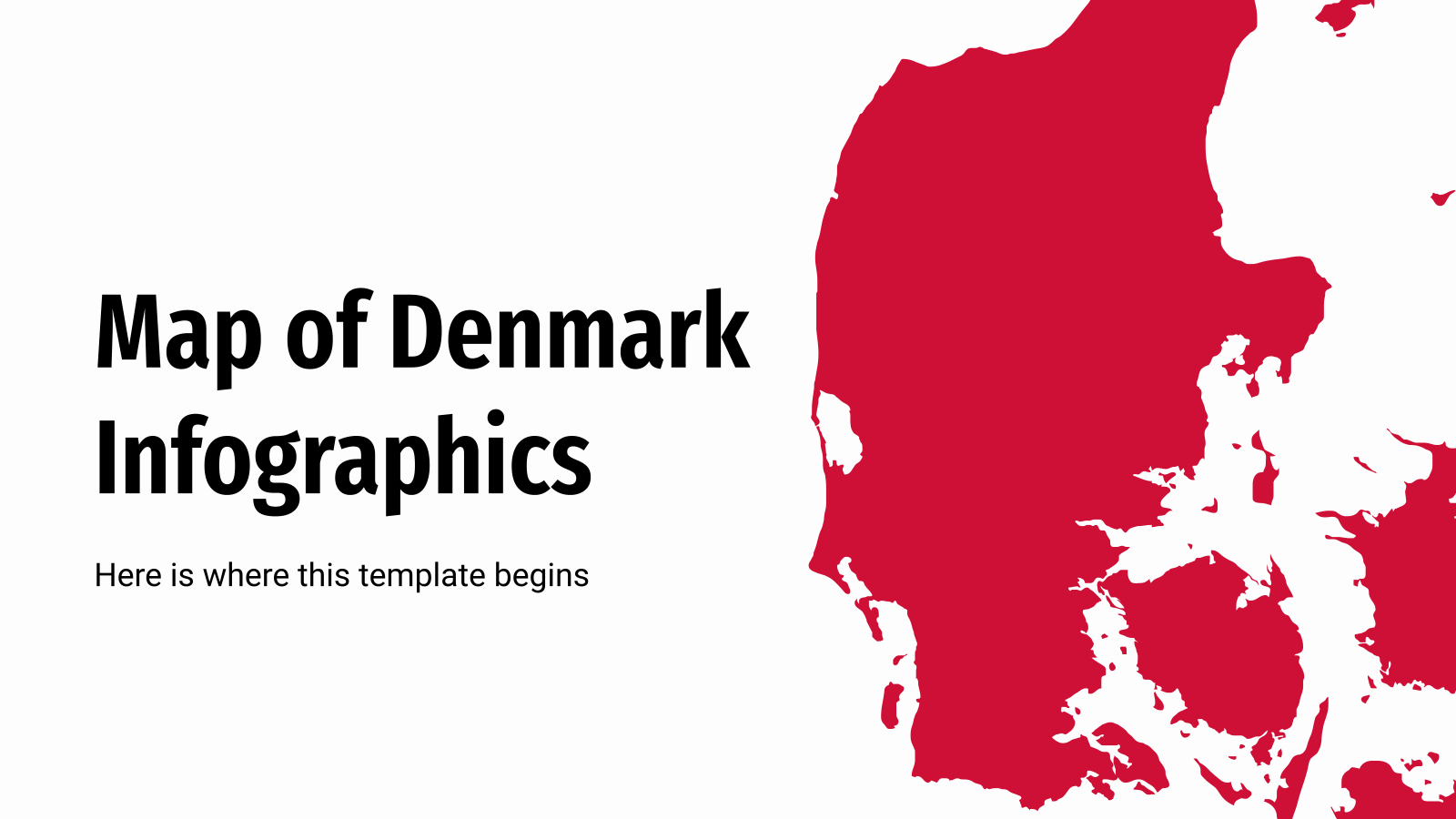 Map of Denmark Infographics presentation template