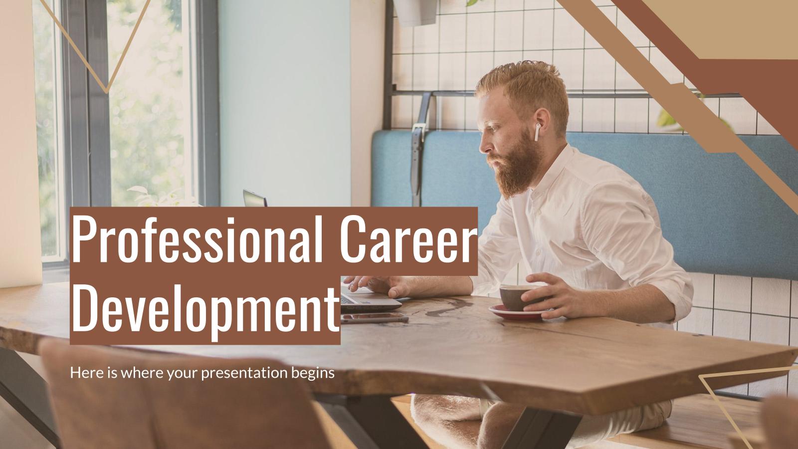 Plantilla de presentación Desarrollo de carrera profesional