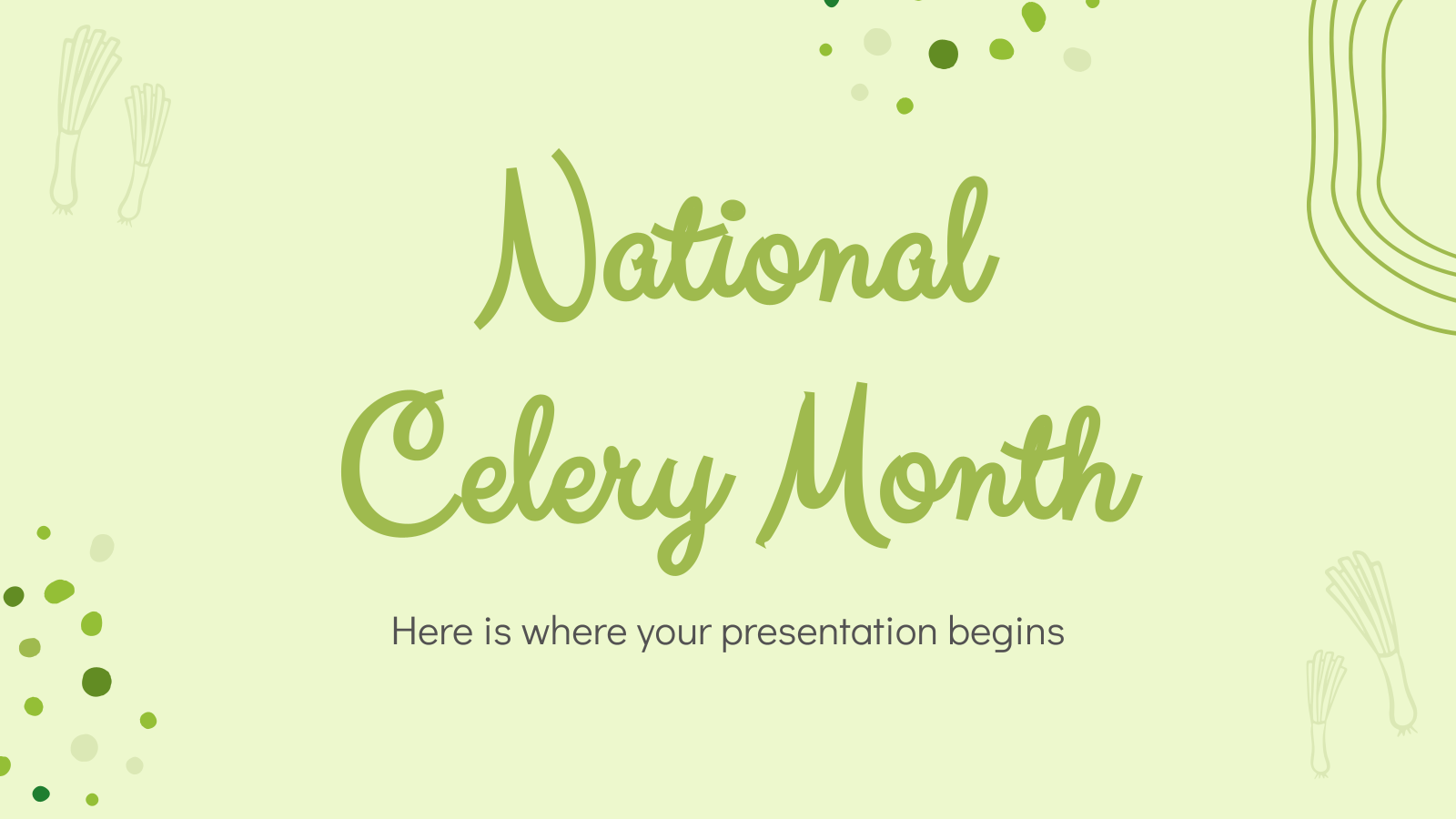 National Celery Month presentation template