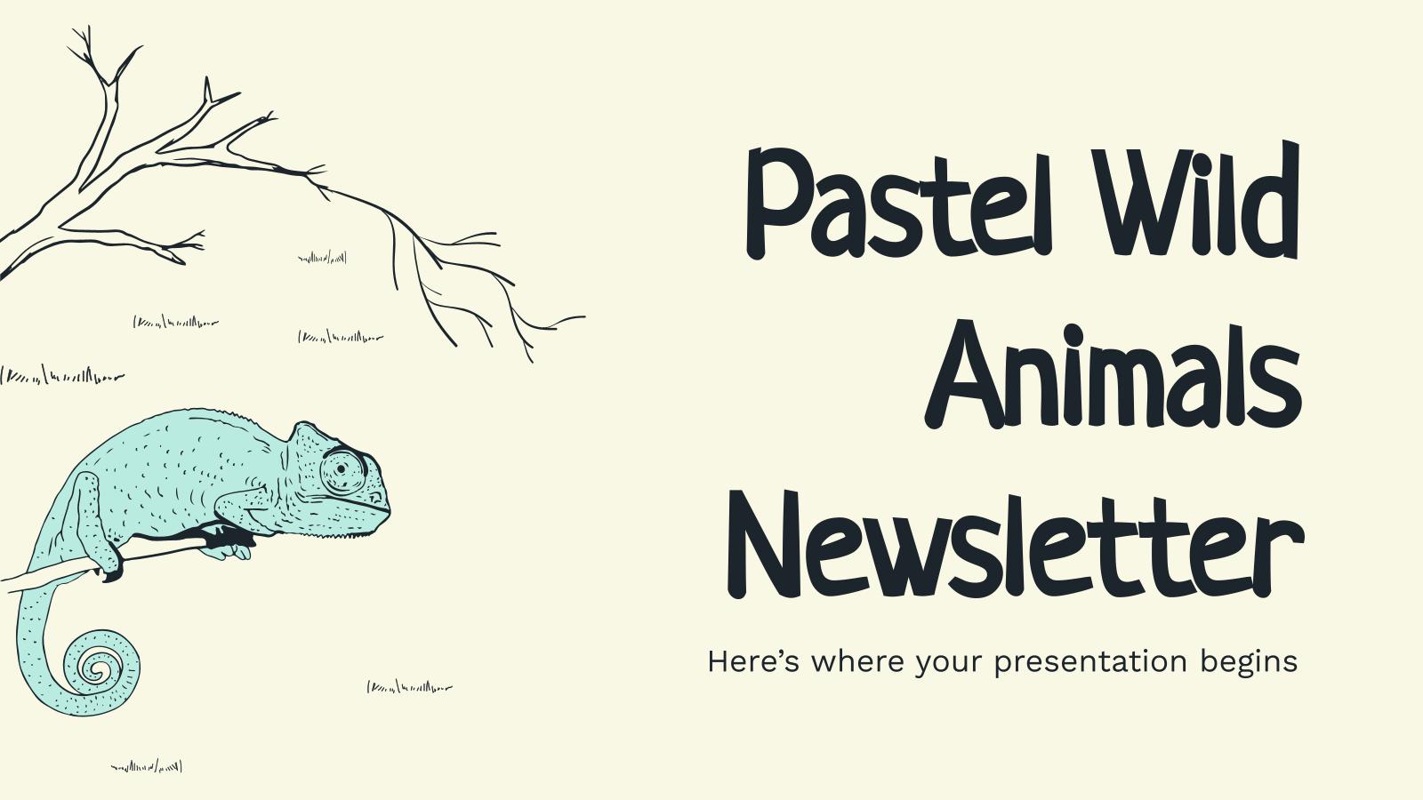 Pastell Wildtiere Newsletter Präsentationsvorlage