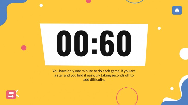 Minute to win it games - middle school presentation template