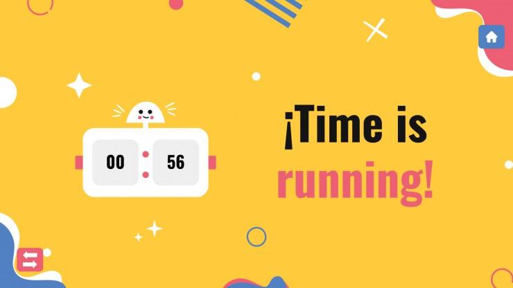 Plantilla de presentación Juegos de un minuto para ganar - educación secundaria