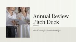 Plantilla de presentación Pitch deck para informe anual