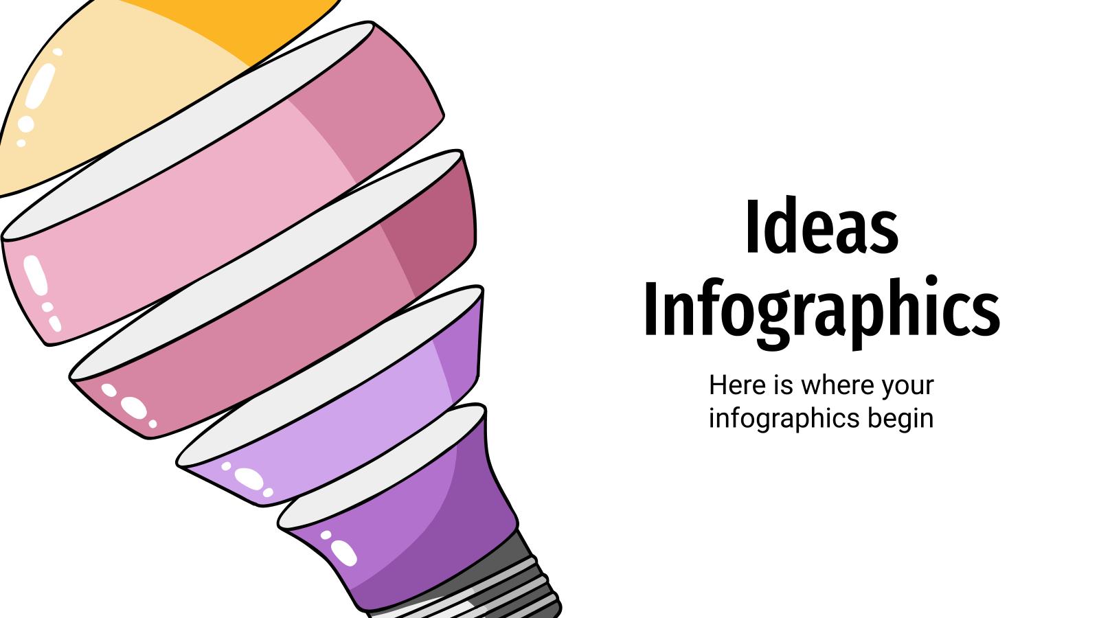 Modelo de apresentação Infográficos de ideias