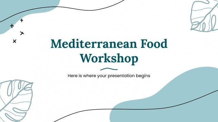 Plantilla de presentación Taller de cocina mediterránea