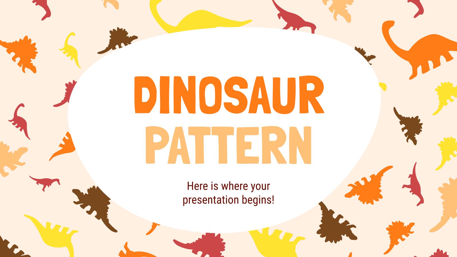 Modelo de apresentação Desenhos de dinossaurios
