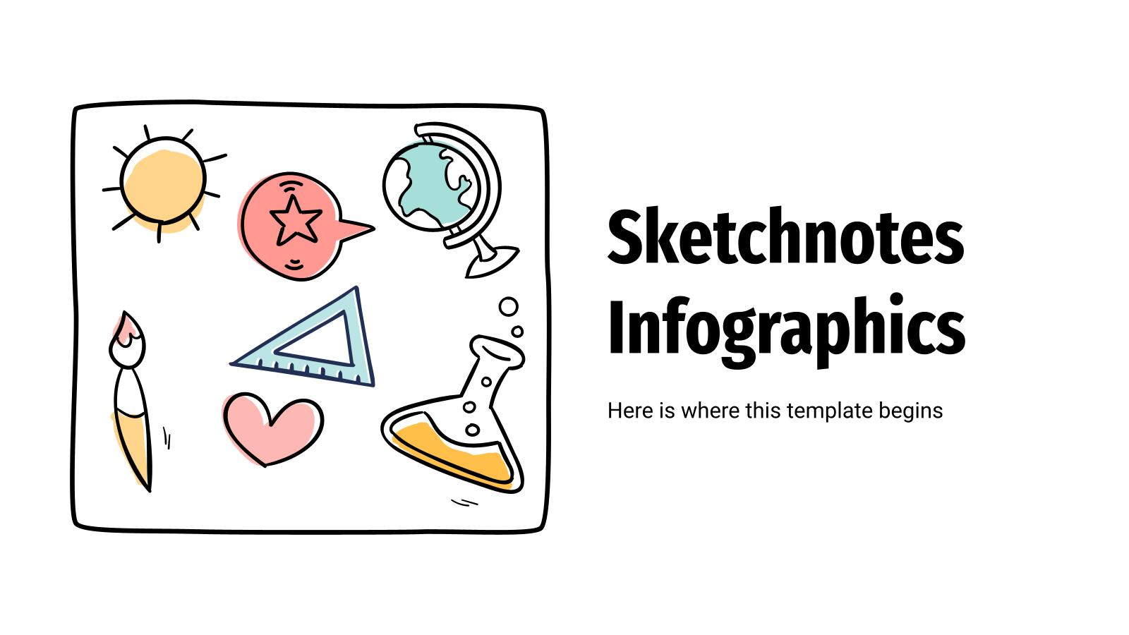 Plantilla de presentación Infografías de notas visuales