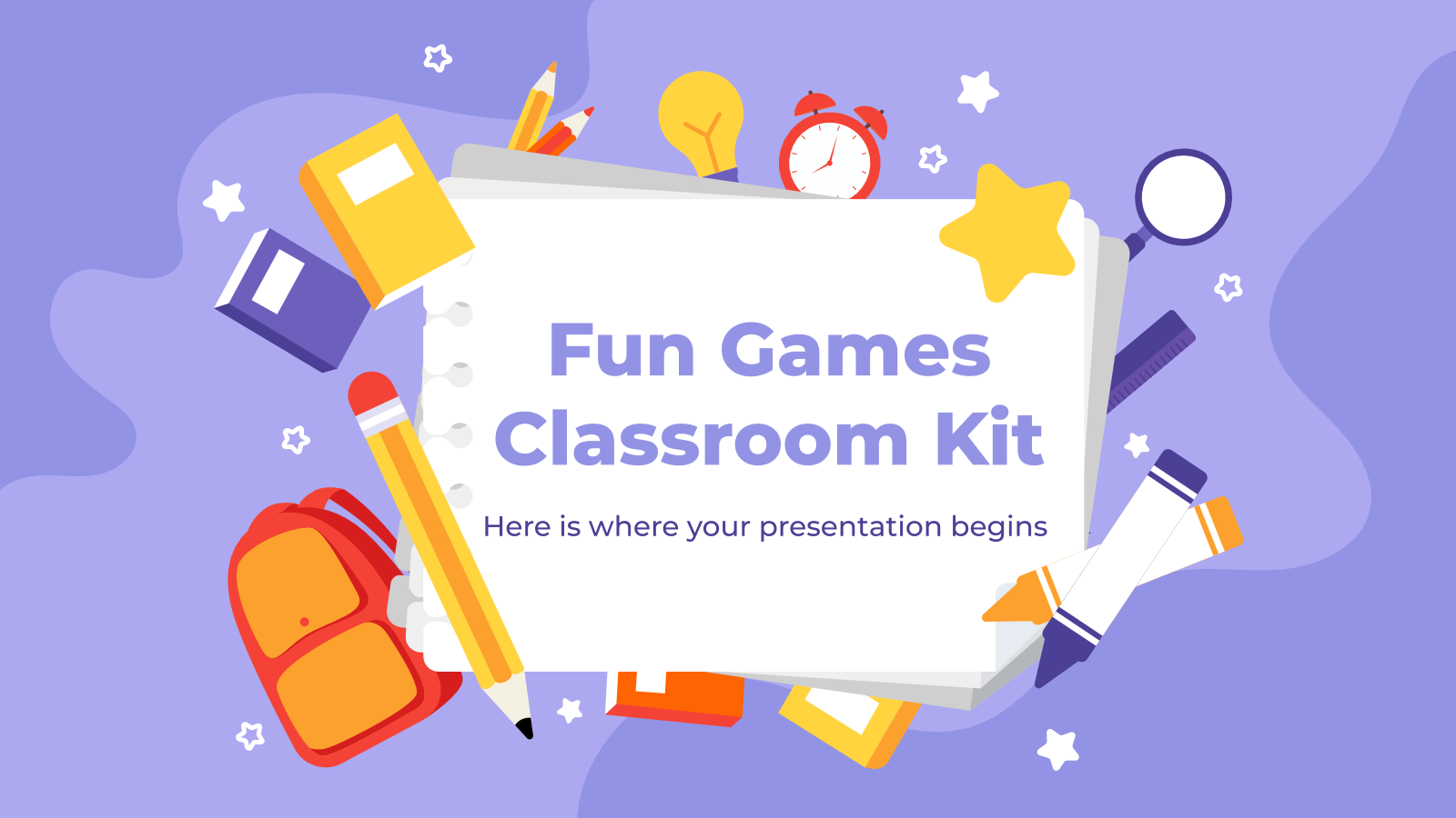 Fun Games Classroom Kit presentation template