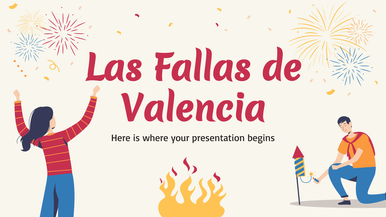 Las Fallas of Valencia presentation template