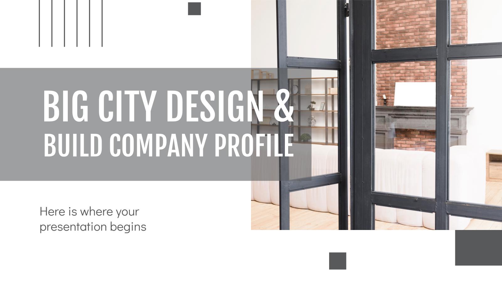 Modelo de apresentação Perfil da empresa Big City Design & Build