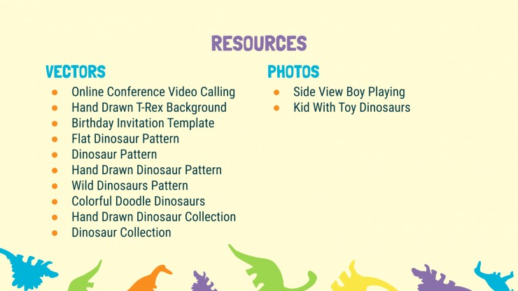 Dinosaur Pattern presentation template
