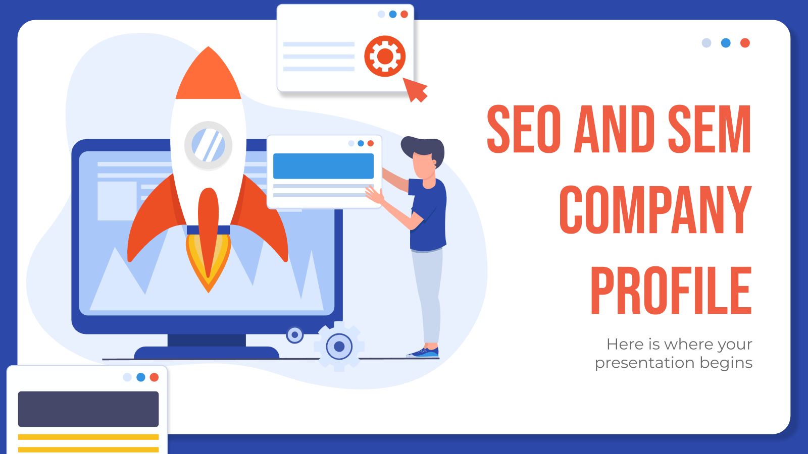 SEO and SEM Company Profile presentation template