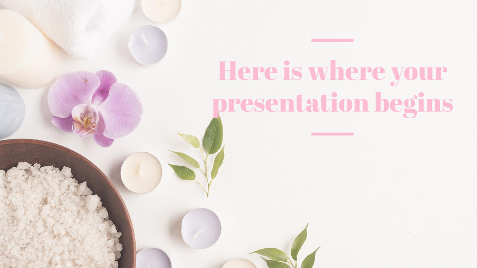 Spa & Relax presentation template