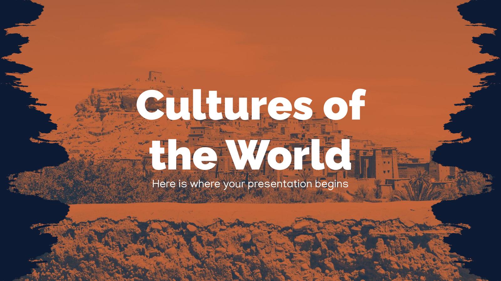 Modelo de apresentação Culturas do mundo