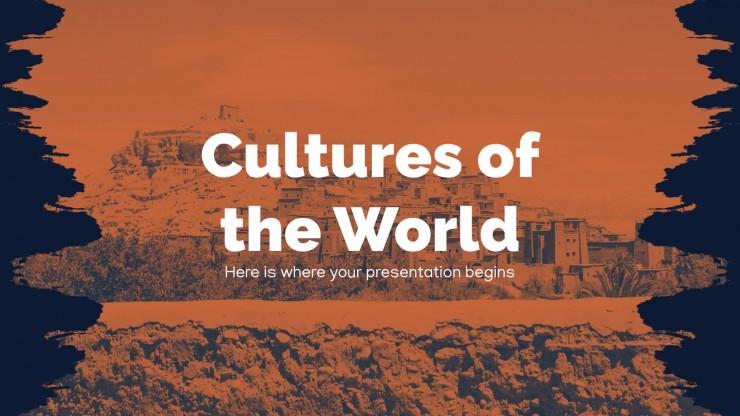 Plantilla de presentación Culturas del mundo