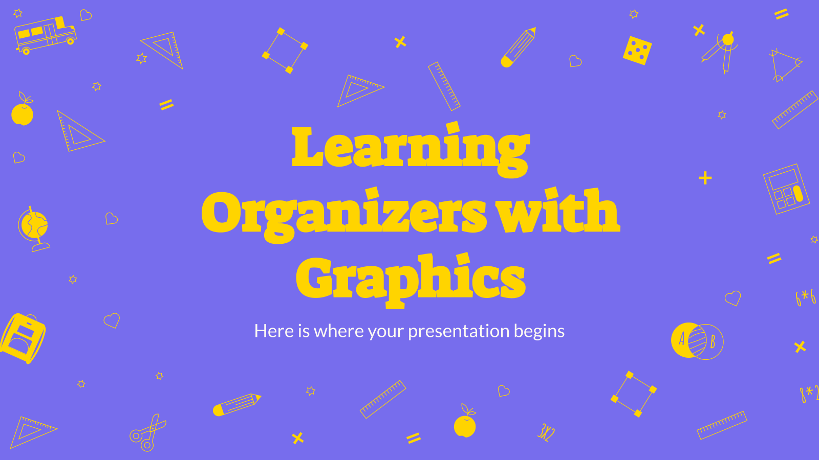 Learning Organizers with Graphics presentation template