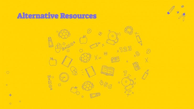 Plantilla de presentación Organizadores de contenido educativo