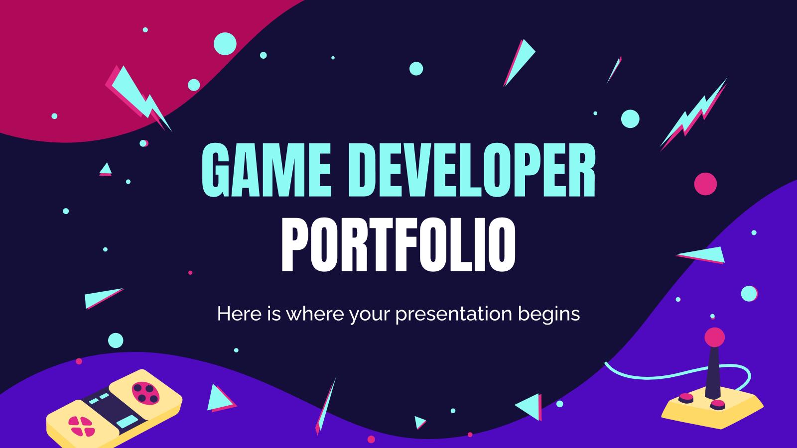 Game Developer Portfolio presentation template