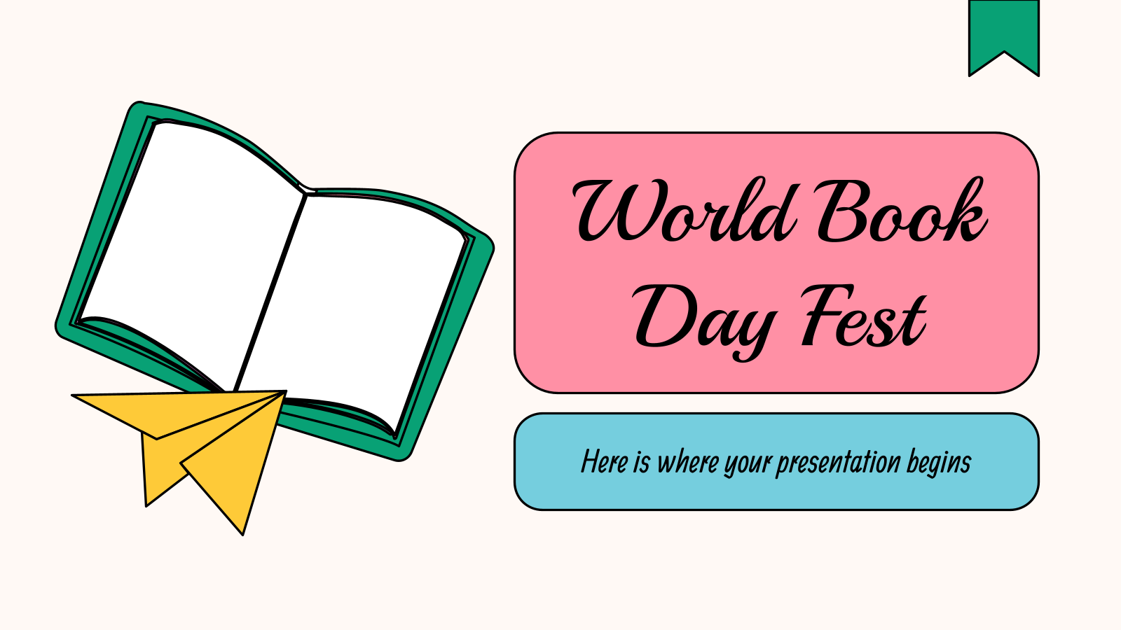 World Book Day Fest presentation template