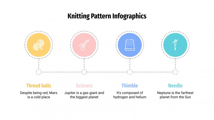 Knitting Patterns Infographics presentation template