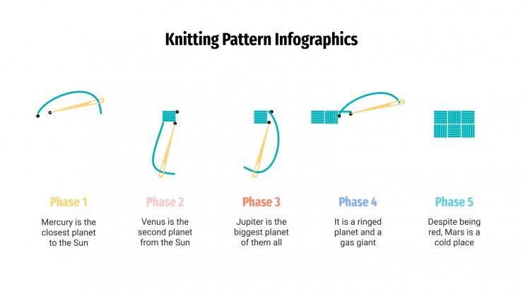 Infographie de motifs de tricot : Modèles de présentation
