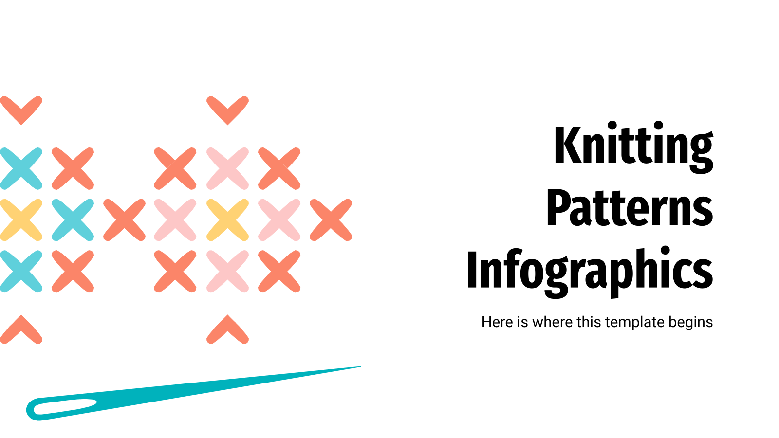 Knitting Patterns Infographics presentation template