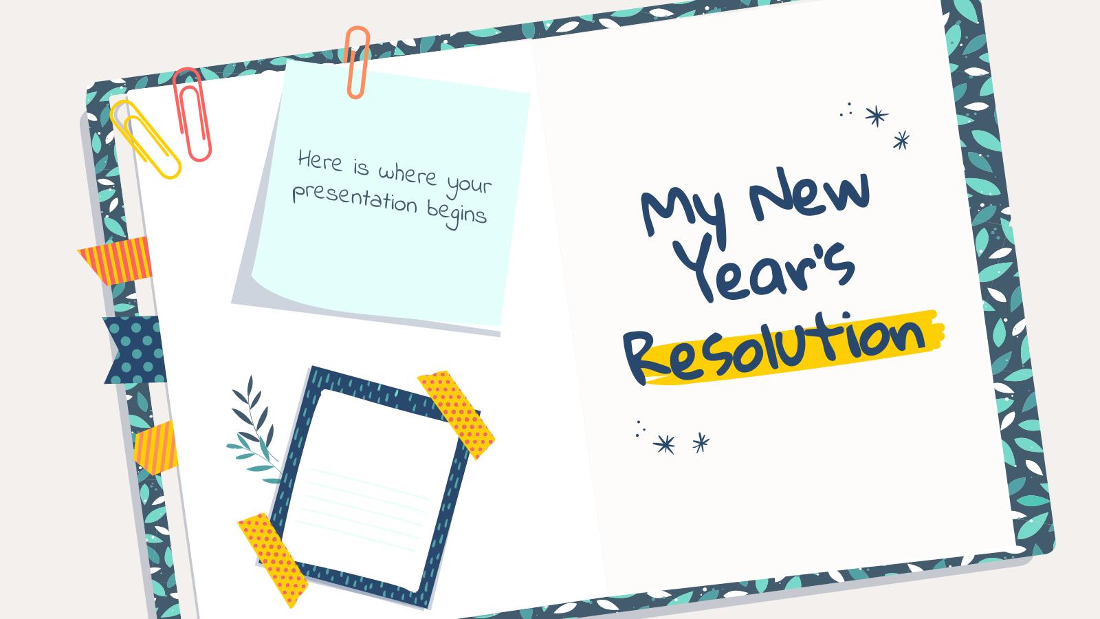 Plantilla de presentación Propósito de Año Nuevo