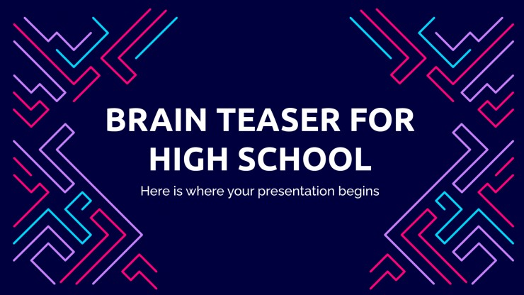 Brain Teasers for High School presentation template