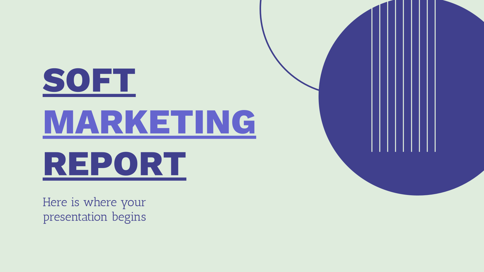 Soft Marketing Report presentation template